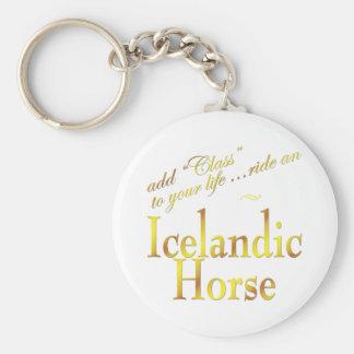 Añada la clase a su vida, monte un caballo islandé llaveros