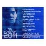 """Añada la clase de la foto del azul 2011 de Sci fi Invitación 4.25"""" X 5.5"""""""