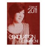 """Añada la clase de la foto del vintage 2011 de la invitación 4.25"""" x 5.5"""""""