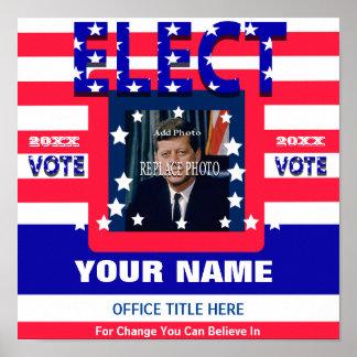 Añada la elección de la plantilla de la campaña de póster