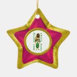 Añada la foto 2 ilusión del oro del ornamento de ornamentos para reyes magos