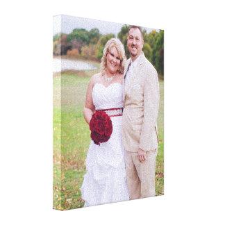 Añada la foto del boda o la otra 'lona envuelta s impresión en lienzo
