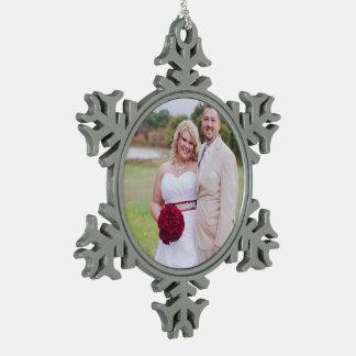 Añada la foto u otras del boda navidad Oranment Adorno De Peltre En Forma De Copo De Nieve