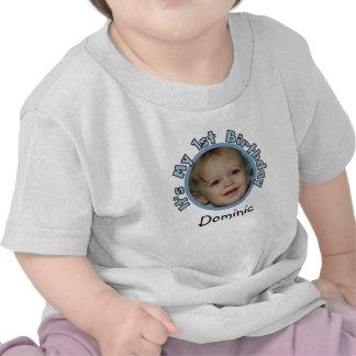 Añada la foto y nombre la 1ra camiseta del cumplea
