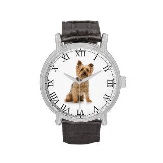 Añada la imagen linda del perro de la foto de su m reloj