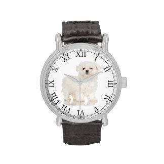 Añada la imagen linda del perro de la foto de su reloj