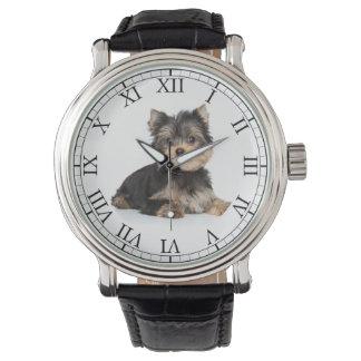 Añada la imagen linda del perro de la foto de su relojes de pulsera