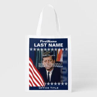 Añada la plantilla de la campaña de la foto el | bolsas reutilizables