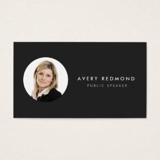 Añada la plantilla de la foto para el negro tarjeta de negocios
