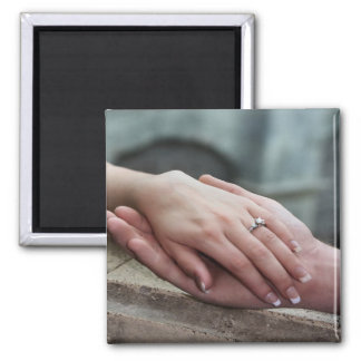 Añada la reserva de la foto el imán del compromiso