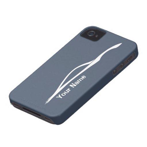 """""""añada la silueta blanca de G37 de su nombre"""" - pi Case-Mate iPhone 4 Carcasa"""