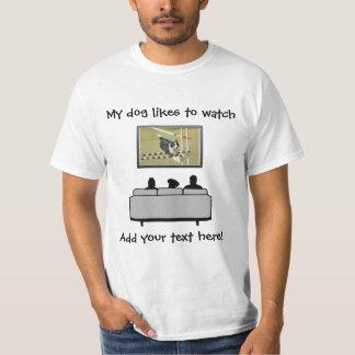 Añada la su camiseta del amante del perro de la playera