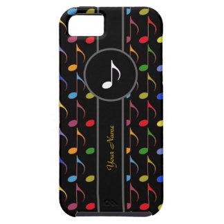 añada las notas conocidas/coloridas de la música iPhone 5 fundas