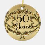 Añada los nombres 50 años del aniversario de ornam ornamentos de navidad
