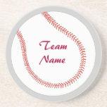 Añada los prácticos de costa conocidos del béisbol posavasos personalizados
