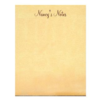 Añada papel con membrete de papel de las notas de  membrete a diseño