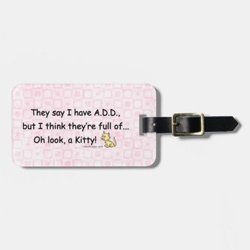 AÑADA por completo de humor del gatito Etiquetas Bolsa