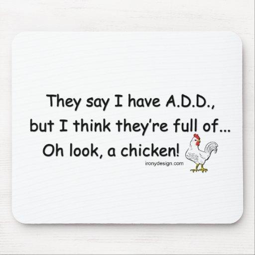 AÑADA por completo de pollos Alfombrilla De Ratón