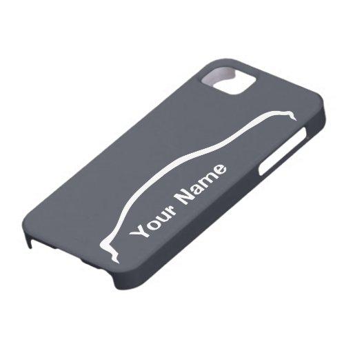 """""""añada sedán de G35 de su nombre"""" con la pizarra a iPhone 5 Cárcasa"""