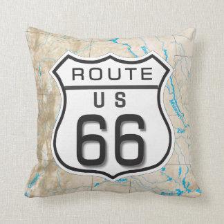 añada su almohada de la ruta 66 de las fotos cojín decorativo
