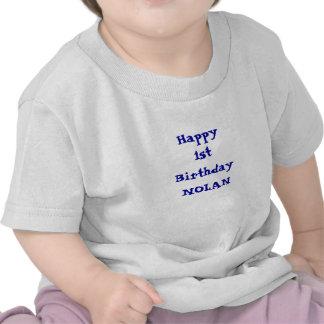 Añada su camisa namePersonalized del feliz