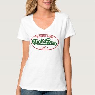 Añada su camiseta del jugador de hockey hierba del playeras