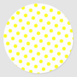 Añada su color preferido a los lunares amarillos pegatinas redondas