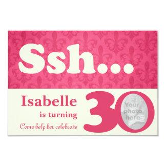 Añada su cumpleaños de la sorpresa del ssh de la invitación 8,9 x 12,7 cm