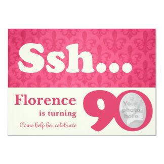 Añada su cumpleaños de la sorpresa del ssh de la invitación 11,4 x 15,8 cm
