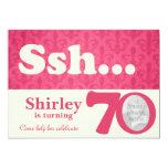 """Añada su cumpleaños de la sorpresa del ssh de la invitación 5"""" x 7"""""""