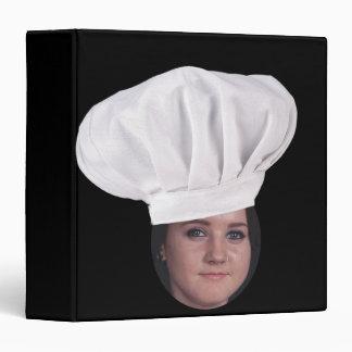 """Añada su foto a un gorra del cocinero carpeta 1 1/2"""""""
