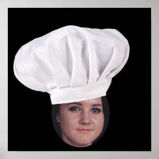 Añada su foto a un gorra del cocinero póster