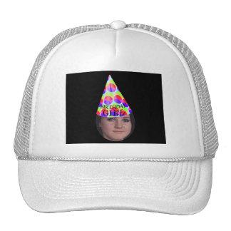 Añada su foto a un gorra del fiesta del chica del