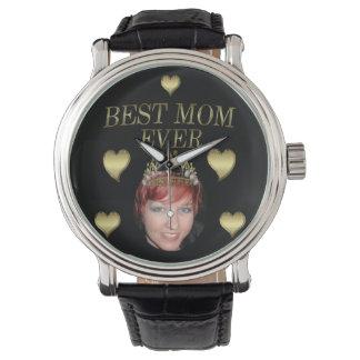 Añada su foto a una tiara del día de madres relojes de pulsera