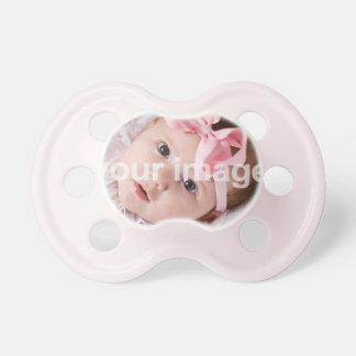 Añada su foto - Binky rosado Chupete De Bebé