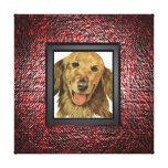 Añada su foto del mascota al marco lienzo envuelto para galerías