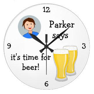 Añada su foto: 'Hora para Beer Reloj
