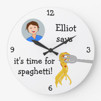 Añada su foto: 'Hora para Spaghetti Reloj De Pared