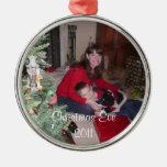 Añada su foto, ornamento del árbol de navidad del  ornamente de reyes