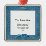 Añada su foto - plantilla del cuadrado de la ornamento para reyes magos
