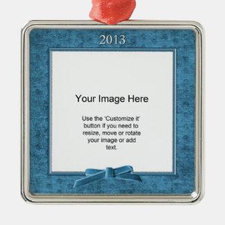 Añada su foto - plantilla del cuadrado de la felpi ornamento para reyes magos