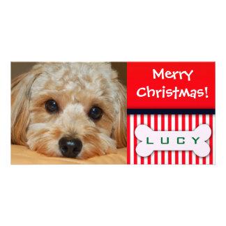 Añada su foto preferida del perro a este temporero tarjetas personales