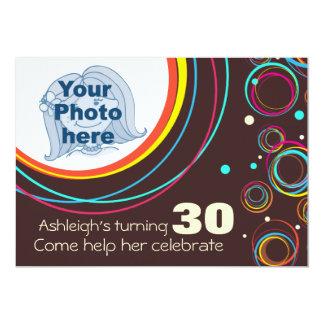 """Añada su foto que el trigésimo cumpleaños invitación 5"""" x 7"""""""