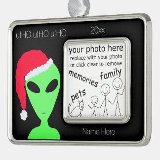 Añada su foto Santa extranjero LGM en un gorra de Adornos Con Foto