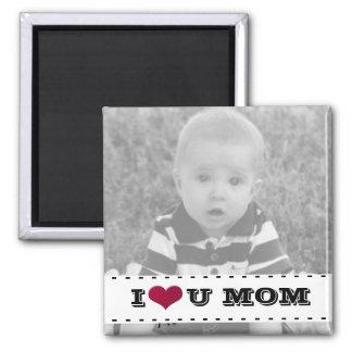 Añada su foto, te amo imán de la mamá