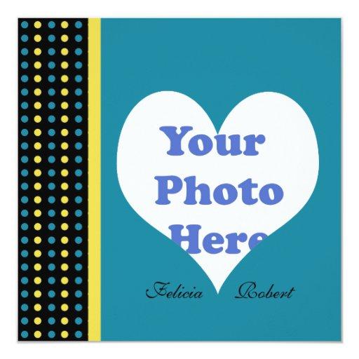 Añada su foto y redacta la invitación