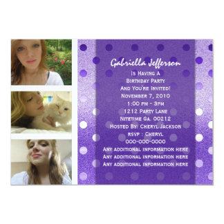 Añada su imagen: Invitación púrpura del fiesta de