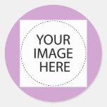 Añada su imagen o texto aquí pegatinas redondas