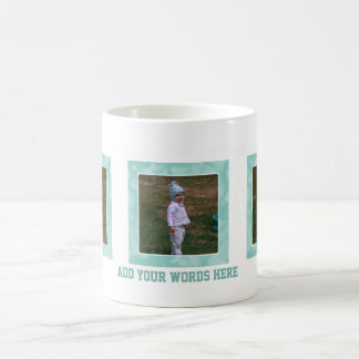 Añada su imagen: Ponga verde la taza enmarcada