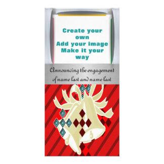 Añada su invitación del compromiso o del boda de l tarjeta personal con foto